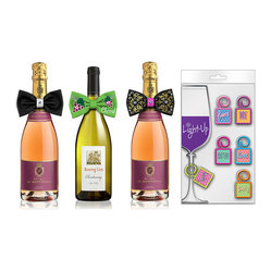 Sophisticated Bottle Tie and Charm Set