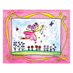 Oh How Cute Kids by Serena Bowman - How Does Your Garden Grow, Ready To Hang Canvas Kid's Wall Decor, 8 X 10 - Part of my Fairy Nursery Rhymes series. I have several in the series for boy and girls!  Each are sold separately but coordinates with everything in the series for an easy fun room decor!