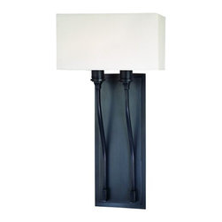 Hudson Valley Lighting - Hudson Valley Lighting 642 Two Light Up Lighting Double Wallchiere Sconce with R - Transitional Two Light Up Lighting Double Wallchiere Sconce with Rectangular Shaped Faux Silk Shade from the Selkirk CollectionSelkirk Collection Two Light Up Lighting Double Wallchiere Sconce with Rectangular Shaped Faux Silk Shade.Features: