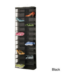 Richards Homewares - Richards Homewares Gearbox Storage Caddy 26-pocket Over-the-Door Organizer - Richards Homewares brings you this gearbox storage caddy featuring 26 pockets to keep all your essentials organized. With an over-the-door style construction, this unit provides a mesh front to keep your items easily visible and accessible.