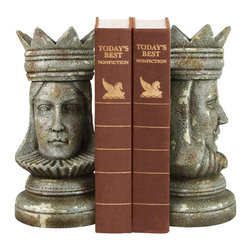 Sterling Industries - Pair King & Queen Bookends - Pair King & Queen Bookends