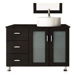 Lune Small Single Sink Modern Bathroom Vanity