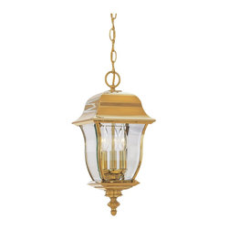 "Designers Fountain - 10"" Hanging Lantern Solid BrassGladiator Collection - Solid brass lanterns with a durable PVD finish that will not pit, tarnish, corrode or discolor."