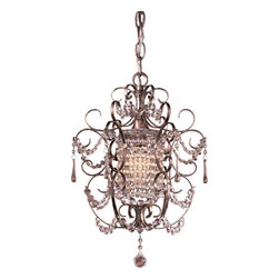 Minka-Lavery - Westport Silver Lantern Pendant - Decorative and fun, this mini chandelier will dress up the smallest of spaces.  Its flirty lines feature a Westport silver finish, and its sparkling accents have a dazzling effect.  You will fall for its delightful design.   Minka-Lavery - 3121-333