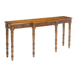Sterling Industries - Sterling Industries 160-005 Chandon Tables in Mid Tone Stained Wood - Hand carved from plantation grown hardwoods with an oak veneer top with banding this console displays exquisite craftsmanship and detail.