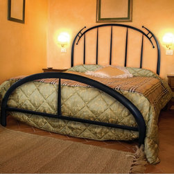 Mathews & Company - Pinnacle Wrought Iron Bed - Our overview of the new Pinnacle Wrought Iron Bed is on its way but you can still purchase this wonderful piece for your master suite or guest bedroom. If you have questions about the product just drop a line or send us an email!Pictured in Black finish.