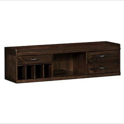 "Olivia Smart Technology(TM) Organizer, Tuscan Chestnut stain - Make the entry a destination in its own right with this well-designed modular furniture that can be customized to your space and storage needs. The charger's letter slots organize mail, and three drawers hold essentials such as sunglasses and keys. Create the ultimate in organization by stacking three cubby benches together, or use just one as both storage and an extra seat. The doors of the wall-mounted tower can be mounted to open from left or right, and feature four hooks inside to hold coats and bags. Organizer: 53"" wide x 14"" deep x 15"" high Bench: 53"" wide x 14"" deep x 22.5"" high Wall Mount Tower: 20"" wide x 14"" deep x 67.5"" high Crafted with solid pine and veneers. Organizer features three drawers, one open cabinet, removable partitions, and a flip-up small hatch on top reveals the 3-plug Smart(TM) feature. Bench features four small and four large open cabinets, and is fitted with metal label holders. Tower's doors can be mounted to open from left or right. Finished in Tuscan Chestnut. Use the included hardware to stack up to three individual benches. Use our Olivia Havana Weave Basket with the Organizer and our Havana Utility Basket with the Bench (each sold separately). View our {{link path='pages/popups/fb-media.html' class='popup' width='480' height='300'}}Furniture Brochure{{/link}}."