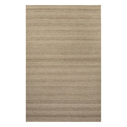 Jaipur Rugs - Jaipur Rugs Tetured Eco Friendly Wool Taupe/Tan Area Rug, 5 x 8ft - Flat woven un-dyed wool with different textural elements makes this collection feel both rustic and sophisticated. The best of both worlds!