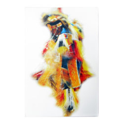 "16x24 Yellow Coyote -Digital Print - Original Art by Ian Kennedy entitled ""Yellow Coyote"" it is printed on coated canvas that is mounted in Gallery Wrap style with 1"" white edges- 16x24 image."