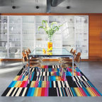 Line by Line Tiles, Rainbow - I'm a big fan of Flor's modular carpet tiles. They can be configured in any shape and are easy to maintain.