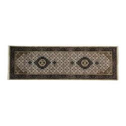 1800-Get-A-Rug - Runner Ivory Tabriz Mahi Oriental Rug Wool and Silk Hand Knotted Sh19825 - Our fine Oriental hand knotted rug collection consists of 100% genuine, hand-knotted and hand-woven rugs from Persia, China, and other areas throughout Asia. Classic, traditional, and offered in a wide range of elaborate designs, every handmade rug is guaranteed to serve as a beautiful and striking element in any interior setting.