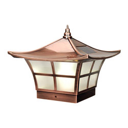 Classy Caps - Classy Caps Ambience Solar Post Cap - Copper - High Performance solar lights - stays lit for up to 12 hours