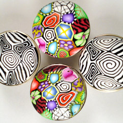 Cabinet Knobs/Cabinet Pulls Set of 4 by Glory Works - I love these crazy knobs. They are super fun, and no one else will have anything like them.
