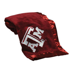Collegiate Delight - Texas A&M University Blanket - Let your school spirit show with these officially licensed collegiate baby blankets. These embroidered coral fleece blankets with matching satin trim are super soft to the touch and perfect for your future graduates and athletes.