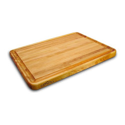 Catskill Craftsmen - Solid Wood Reversible Cutting Board w Trench - Professional Cutting Board Series. Made of US Hardwood from the Catskill Mountains. Oil finish. Edge grain. Reversible. Features a deep juice groove. 18 in. L x 24 in. W x 1.50 in. H (18 lbs.). Made in the USAThe perfect size for any kitchen, whether it's at the restaurant or back at home. The inch-and-a-half thick design guarantees a long life under even the most grueling of work loads. Featuring a deep juice groove and a plain reversible side, these boards are sure to assist with any food preparation. Manufactured in the USA from North American Hardwood.