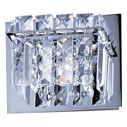 ET2 Lighting - ET2 Lighting E23251-20PC Bangle Polished Chrome Wall Sconce - 1 Bulb, Bulb Type: 50 Watt G9 Xenon, Bulb Included