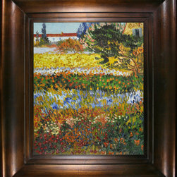 "overstockArt.com - Van Gogh - Flowering Garden with Path - 20"" X 24"" Oil Painting On Canvas Hand painted oil reproduction of a famous Van Gogh painting, Flowering Garden with Path . The original masterpiece was created in 1888. Today it has been carefully recreated detail-by-detail, color-by-color to near perfection. Vincent Van Gogh's restless spirit and depressive mental state fired his artistic work with great joy and, sadly, equally great despair. Known as a prolific Post-Impressionist, he produced many paintings that were heavily biographical. This work of art has the same emotions and beauty as the original. Why not grace your home with this reproduced masterpiece? It is sure to bring many admirers!"
