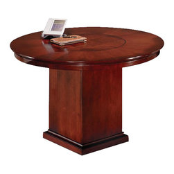 DMi Furniture - DMi Del Mar 3.5' Round Conference Table with Column Base - DMi Furniture - Conference Tables - 730289 - With its striking Sapele Pomele veneers Sedona Cherry finish and subtle Shaker influences Del Mar is a handsome alternative to the customary traditional office environment.