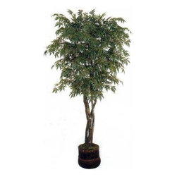 Oriental-Decor - 7' Japanese Maple Artificial Tree - A popular choice for Oriental gardens, the Japanese maple tree has long been popular for many landscape professionals. These trees, while they may be cultivated as bonsais, can grow to as high as 33 feet. This makes the tree difficult to use as an indoor ornamental. Now, you can have the beauty of the Japanese maple indoors with you through this artificial house plant 7 foot Japanese Maple Artificial Tree. Standing at 84 inches this synthetic maple tree looks real even up close, thanks to its silk and polyester construction. 4 realistic-looking trunks come together to spread out in individual branches covered with verdant-looking leaves. The plant comes in a beautiful pot for a complete, polished look. Ideal for residential and office installations, this artificial tree requires only very little maintenance, compared to a live tree. Revamp a boring corner or space easily by placing this 7 foot Japanese Maple Artificial Tree today.