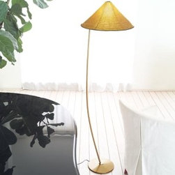 """Leucos - Sarasar Tr floor lamp - Product Description:  The Sarasar TrfromLeucos is designed by Roberto Pamio & Renato Toso. This floor lamp provides a downward and diffused light through a beaded translucent glass shade creating unique lighting patterns on adjacent surfaces. Companion pendant and table versions available. Thousands of small hand-made glass beads, hand-sewn together and held by a light metal structure, form the glass diffuser. In turn, the glass diffuser is supported by a baked enamel die-cast aluminum round base and matching curved stem.                                 Manufacturer:               Leucos                                  Designer:               Roberto Pamio & Renato Toso                                  Made in:              Italy                                  Dimensions:               width: 17 3/4"""" (45 cm) x height: 65"""" (165cm)                                   Light bulb:                             1 x 100W A-19 Incandescent                                                 Material               glass, metal"""