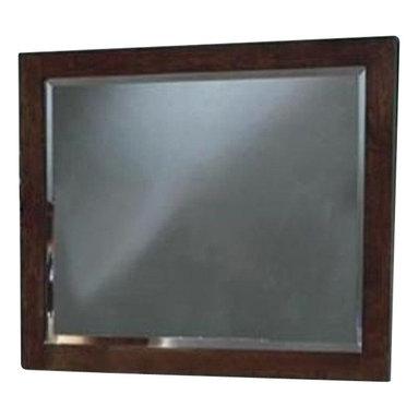 """Coaster - Mirror (Light Cappuccino) By Coaster - Jessica Mirror by Coaster. This modern style mirror crafted from select veneers and solid wood on a light cappuccino finish will definitely highlight your bedroom decor. The Mirror features rectangular shaped frame and large clear surface. Dimensions:""""39 1/2""""""""H x 4-Mar""""""""D x 32 3/4""""""""L""""Cal. King: 94l x 81-1/4w x 61-7/8hQueen: 88-3/4l x 73w x 43-1/4h Some assembly may be required. Please see product details."""