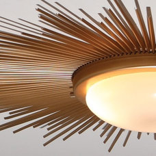 Ceiling Lighting Global Views 9.91411 - Sunburst Gold Modern / Contemporary Flush Mount Ceiling L