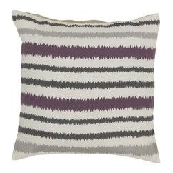 "Surya - Surya 18 x 18 Decorative Pillow, Papyrus, Pewter and Amber (AR105-1818P) - Surya AR105-1818P 18"" x 18"" Decorative Pillow, Papyrus, Pewter and Amber"