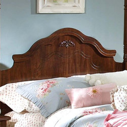Standard Furniture - Jaqueline Canopy Headboard (Twin) - Choose Size: TwinFrench dovetail construction. Victorian style overlay. Surfaces clean easily with a soft cloth. Made from wood products with simulated wood grain laminates. Group may contain some plastic parts. Zinfindale cherry finish. 68 in. H