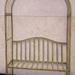 The New Iron Urban Bench Arbor - This trellis/bench combination is a clever way to create your own shaded seating. Since I don't have any trees in my back yard I'm constantly trying to think of ways to create a more private, cool spot. This looks vintage and would fit nicely in a nook in your back yard.