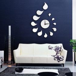 Water Drop Wall Decals DIY Mirror Wall Clock - Package Include:
