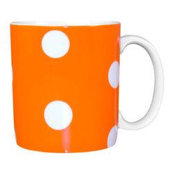 Sabre Paris - Sabre Paris Porcelain Polka Dot Mug, Orange - Qualifies for free shipping and free returns. 100% Satisfaction Guaranteed.