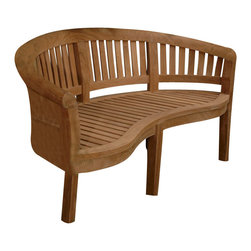 "Anderson Teak - Curve 3 Seater Bench Extra Thick Wood - This beautiful ""curve bench styling"" is so artistic and unique that has been designed for house or backyard with a lot of curve pattern, the bench will never go out of style, but quietly blends with any d_cor. We have made subtle but careful design changes to ensure excellent back support. Place a single bench under your trees; use a group of benches and chairs for entertaining. Quality built for generations. Cushion is optional and is being made by order."