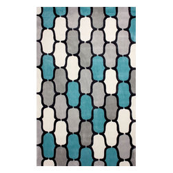 nuLOOM - Contemporary 5' x 8' Teal Hand Tufted Area Rug ACR208 - Made from the finest materials in the world and with the uttermost care, our rugs are a great addition to your home.