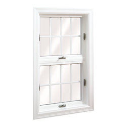 Awning Windows - 3 Lite Wellington Awing Window; shown in White with grids.