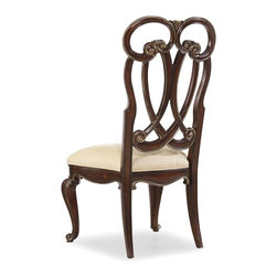 """Hooker Furniture - Hooker Furniture Grand Palais Splat Back Side Chair-Dune - Set of 2 - The essence of luxurious European traditional style, Grand Palais features bold scaling, dramatic shaping and exquisite design details. Upholstered seat. Hardwood Solids with Walnut, Mappa Burl, Ebony and Cherry Veneers with Resin. Dimensions: 24.5""""W x 26.5""""D x 44""""H."""