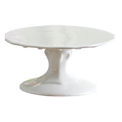 """Rosanna - Petite Treat Small White Cupcake Stand - Add some fun flavor by displaying your petite treats on our porcelain mini cupcake stands!    Mix & Match...add some color By combining the pink, green, yellow, and white mini cake stands!      * Dimensions: 4""""w x 2""""h   * Care: Hand wash recommended   * Gift Boxed"""