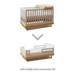 Oeuf Classic Toddler Bed Conversion Kit - The Oeuf Classic Toddler Bed Conversion Kit for the Classic Crib is for the design & safety conscious parent. Practicality and sleek design segues into the Oeuf toddler bed, by simply removing the Oeuf Crib side panels from the base and replace with the Oeuf Toddler Bed side panels for a familiar and comfortable space to fit your growing child's needs.