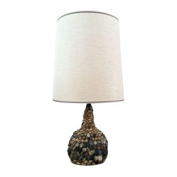 Mid-Century River Stone Lamp - $325 Est. Retail - $250 on Chairish.com -