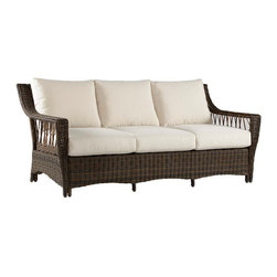 South Sea Rattan Saint John Sofa - Wicker is so timeless and the best for weathering the elements. Curl up on this cozy sofa and enjoy the summer breezes.