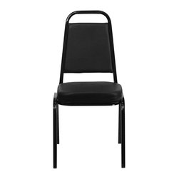 Flash Furniture - Flash Furniture Hercules Series Banquet Chair in in Black - Flash Furniture - Stacking Chairs - FDBHF1GG - This is one tough chair that will withstand the rigors of time. with a frame that will hold in excess of 500 lbs., the Hercules Series Banquet Chair is one of the strongest banquet chairs on the market. You can make use of banquet chairs for many kinds of occasions. This banquet chair can be used in Church, Banquet Halls, Wedding Ceremonies, Training Rooms, Conference Meetings, Hotels, Conventions, Schools and any other gathering for practical seating arrangements. The banquet chair is also great for home usage from small to large gatherings. For any environment that you use a banquet chair it will put your guests at a greater comfort level with the padded seat and back. Another advantage is the stacking capability that allows you to move the chairs out of the way when not in use. with offerings of comfort and durability, you can be assured that you can enjoy this stacking banquet chair for years to come. [FD-BHF-1-GG]