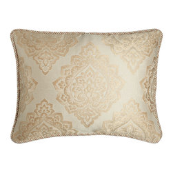 Isabella Collection by Kathy Fielder - Standard Medallion Sham - CREAM/GOLD (STANDARD) - Isabella Collection by Kathy FielderStandard Medallion Sham