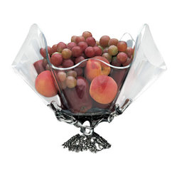 Grapevine Stand with Clear Acrylic Bowl