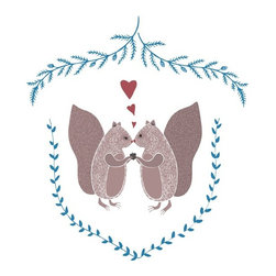 Squirrel Acorn Love by Barn Swallow Press - So sweet. I think I'm going to swap out one of my living room framed prints for this woodland creature addition.
