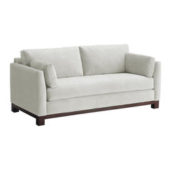 Apt2B - Avalon Sofa, White - With its sleek arms and solid wood base, this sofa gives you big style while making a smaller footprint on your floor space, your wallet and the environment. Its smooth, stain-resistant upholstery comes in a handful of soft, neutral colors, including a fab retro blue-green.