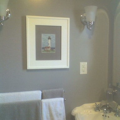 Recessed Picture Frame Medicine Cabinets with No Mirrors - Regular White Concealed Cabinet with white interior from ConcealedCabinet.com.  You insert your own artwork and change it as often as you like!