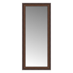 """Posters 2 Prints, LLC - 16"""" x 36"""" Banister Victorian-wal Custom Framed Mirror - 16"""" x 36"""" Custom Framed Mirror made by Posters 2 Prints. Standard glass with unrivaled selection of crafted mirror frames.  Protected with category II safety backing to keep glass fragments together should the mirror be accidentally broken.  Safe arrival guaranteed.  Made in the United States of America"""