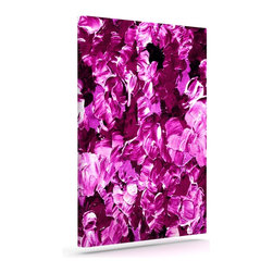 """Kess InHouse - Ebi Emporium """"Floral Fantasy III"""" Magenta Wrapped Art Canvas (12"""" x 10"""") - Bring your outdoor patio to life with this artistic outdoor canvas wrap featuring gorgeous artwork by KESS InHouse. These canvases are not only easy to hang and remove but also are the perfect addition to your patio collection. These canvases are stretched around a wooden frame and are built to withstand the elements and still look artistically fabulous. Decorating your patio and walls with these prints will add the splash of art and color that is needed to bring your patio collection together! With so many size options and artwork to choose from, there is no way to go wrong with these KESS Canvas Wraps!"""