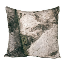 """Kuchi Kuu - Sturbridge Woodland Collection Artisan Pillow, 18"""" x 18"""" - Eco-friendly, artisan pillow covers are created from photographic images found in nature that are applied to organic cotton twill using water-based inks.  Pillow inserts are a 10/90 combination of down and feathers.  The pillow covers can be hand washed in cold water or dry cleaned."""
