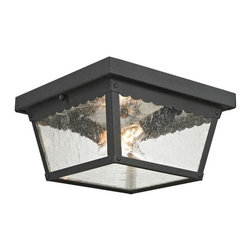 Cornerstone - Cornerstone Springfield 9002EF/65 Flush Mount in Matte Texetured Black - 9002EF/65 Flush Mount in Matte Texetured Black belongs to Springfield Collection by Cornerstone Outdoor Flush Mount (1)