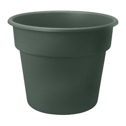 Bloem - Bloem 14in Dura Cotta Planter Midsummer Night Green DC1452, 12 pack - None of the disadvantages like clay planters.  No chipping, no cracking, and no discoloration.